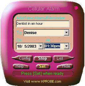 Cellular Phone Alarm Clock
