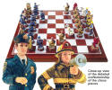 Police Fireman Chess set