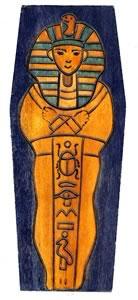 Mummys sarcophagus dice box