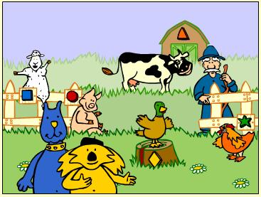 a day on the farm educational farm game for young kids