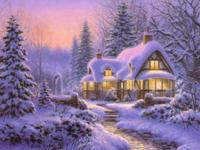 Big jigsaw puzzles with Christmas scenery