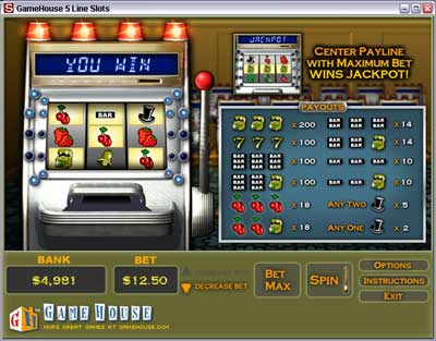 online slot machine game casino on line