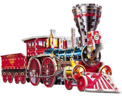 3D Train Jigsaw Puzzle