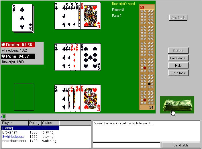 Online Cribbage Tournaments