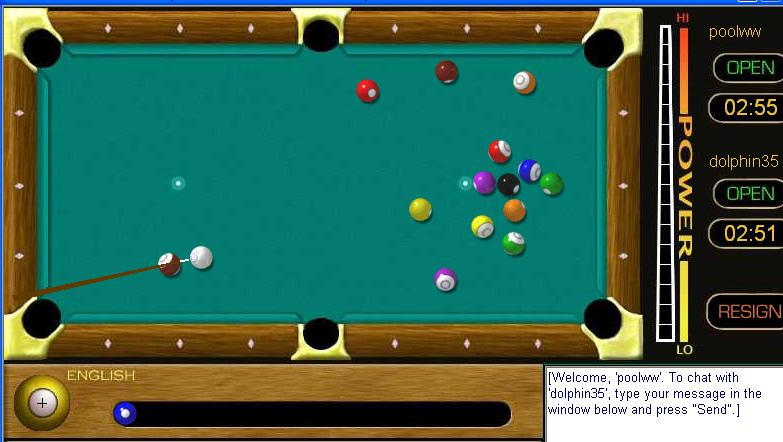 play pool table games online