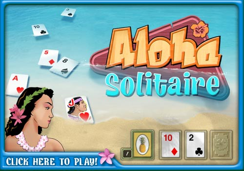 Play free Aloha Solitaire Online games  Hawaii theme on-line