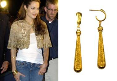 Angelina Jolie Raindrop Earrings