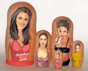 Angelina Jolie Russian Nesting Doll