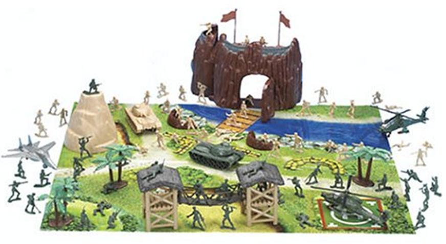Army Forces Playset Play With Your Plastic Army Men On