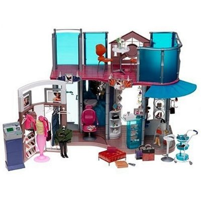 Online Shopping Fashion Europe on Barbie Fashion Show Shopping Mall Playset Shopping Mall With Hair