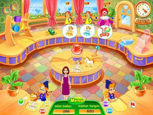 in santa online games color and decorate toys online with the help