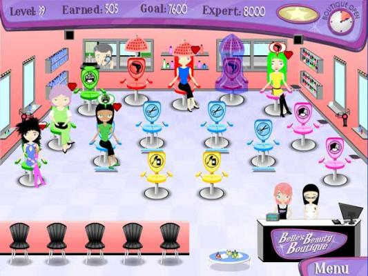 Hair salon games y8