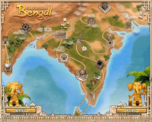 bengal tiger game of gods shoot the balls and destroy the