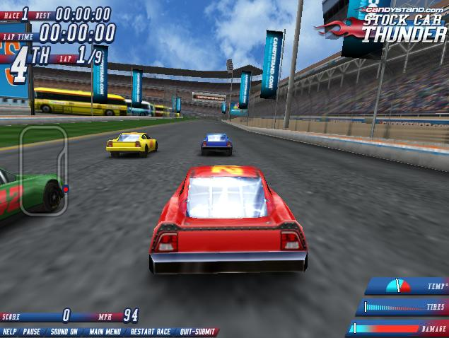 Nascar games online for free for Play motor racing games