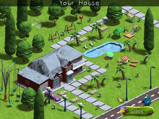 Virtual Games Building Houses