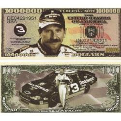 Dale Earnhardt Million Dollar Bill