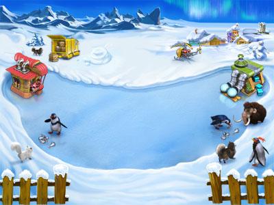 Farm Frenzy 3 Ice Age Penguins Ice Age penguins, mammoths