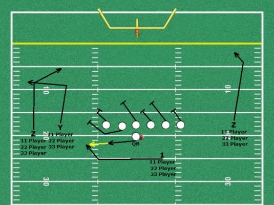 2 player football plays