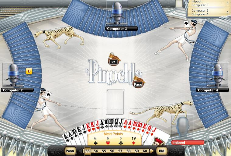 free card games online pinochle games
