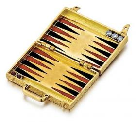 Gold Backgammon Board Jewelry