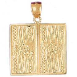 Gold Backgammon Pendant