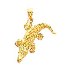 Gold Crocodile Charm