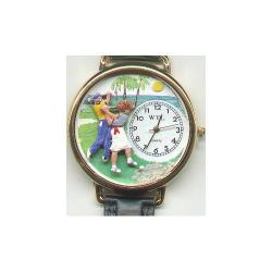 Golf Watch with Handcrafted Miniatures