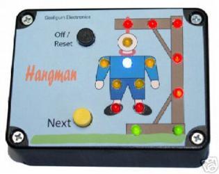 Hangman game electronic kit