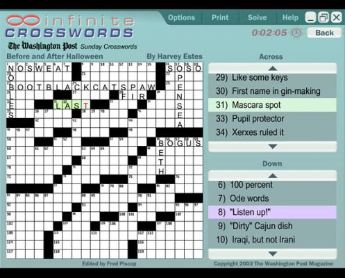 play free crossword puzzles online