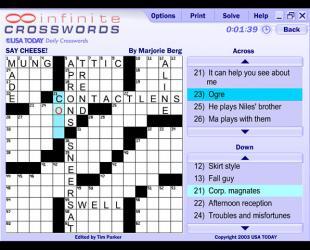 Infinite Crosswords