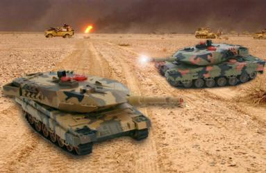 Infrared Combat RC Tanks