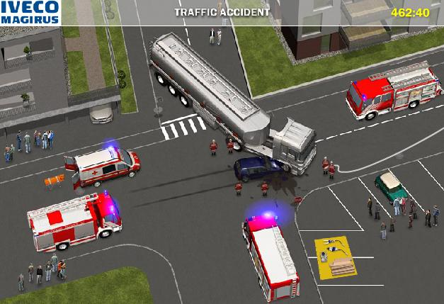 the game fire truck