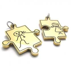 Jigsaw Couples Pendant Necklace