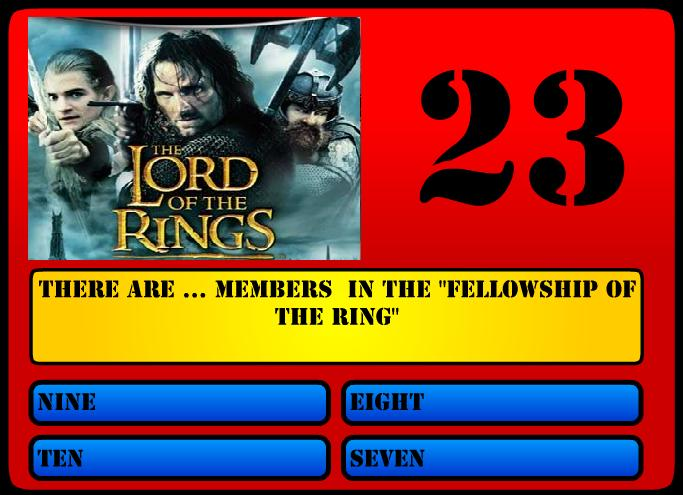 Lord of the Rings questions?