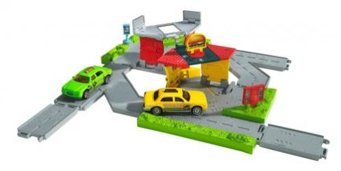 Matchbox City Links Taxi Workday Playset