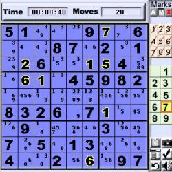 Numberz SuDoku for Palm OS