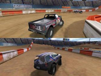 Off Road Arena Play Multiplayer Dirt Racing games on spilt