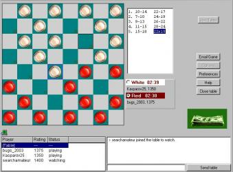 Online Checkers Tournaments