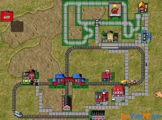 PC Lego Loco Build your rail road train system and deliver postcards ...