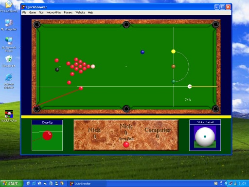 Screens Zimmer 2 angezeig: pc snooker game