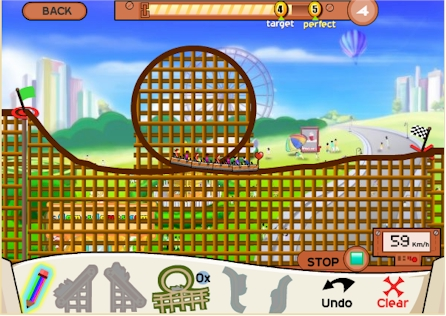 Roller Coaster Build It Board Game Game