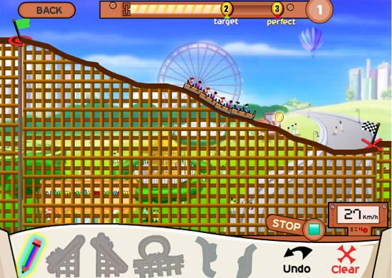 build a roller coaster online game