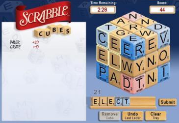 Scrabble Cubes Play Scrabble Online Multiplayer games on 3D cubes!