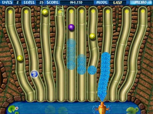 Splash fish pond game fish shooting water to balls for Koi pond game online