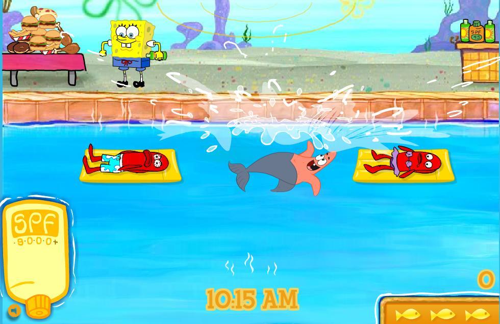 Play Free Spongebob Pool Party Online Games