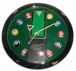 Sports Clock Billiard