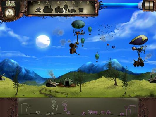 Steam brigade action war game with steam powered hot air for Air balloon games