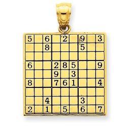 Sudoku Gold Pendant