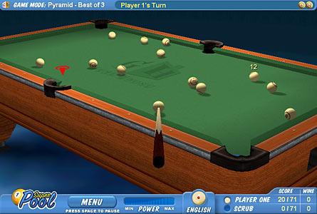 2 player pool games straight pool