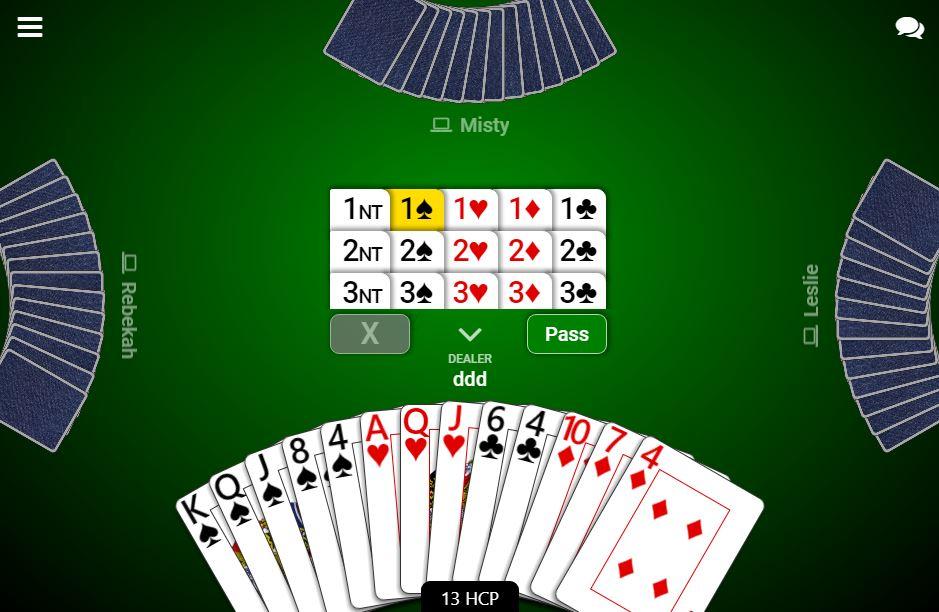 Bridge Play Free Online Bridge Card Games Bridge Game
